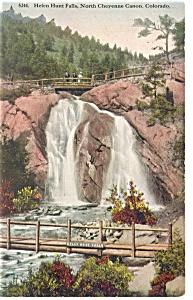Helen Hunt Falls Cheyenne Canon CO Postcard p11054 1916 (Image1)