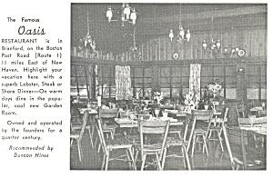 Famous Oasis Restaurant Interior CT Postcard p11059 (Image1)
