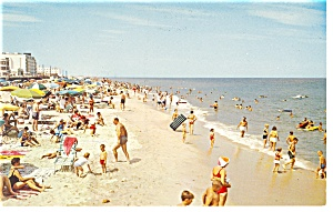 Rehoboth Beach , DE, Beach and Hotels Postcard (Image1)