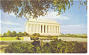 Washington DC, Lincoln  Memorial Postcard (Image1)