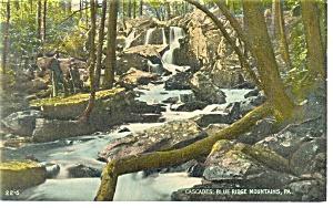 Cascades Blue Ridge Mountains PA  Postcard p11106 (Image1)