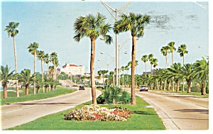 Clearwater Beach Fl Memorial Causeway Postcard P11132