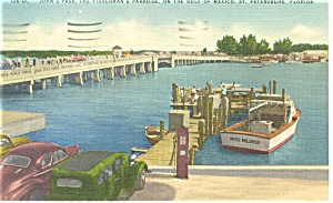 St Petersburg FL John s Pass Postcard p11137 (Image1)