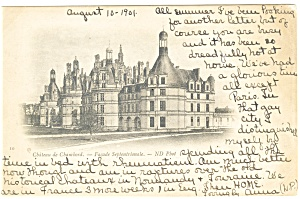 Chateau De Chambard-france Postcard 1901
