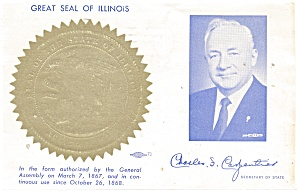 State Seal of Illinois  Postcard p11178 (Image1)