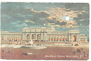 Washington DC, Union Station Postcard 1910 (Image1)