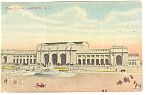 Washington DC, Union Station Postcard (Image1)