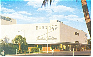 Miami Beach FL Burdines Store Postcard p11214 (Image1)