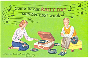 Rally Day Postcard Exodus 24:7 p11230 (Image1)