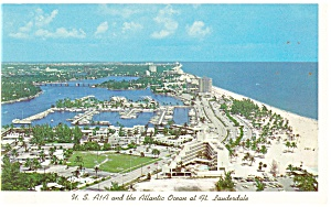 Ft Lauderdale Fl A1a And The Ocean Postcard P11240