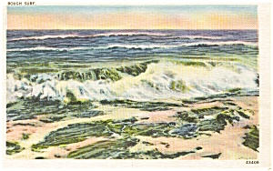 Rough Surf Scenic Postcard P1124