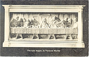 Proctor Vt Last Supper In Marble Postcard P11269 1947