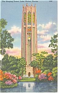 Lake Wales FL The Singing Tower  Postcard p11276 1958 (Image1)