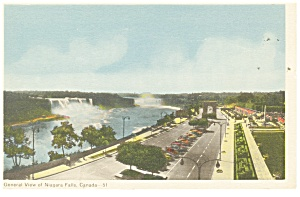 General View of Niagara Falls, Canada Postcard (Image1)