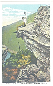 Cumberland Md Lover S Leap Postcard P11305