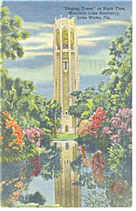 Lake Wales FL Singing Tower Postcard p11318 1948 (Image1)