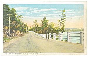 Bar Harbor ME On The Bay Drive Postcard p11328 (Image1)
