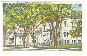 Augusta, ME, Kennebec County Bldgs Postcard (Image1)