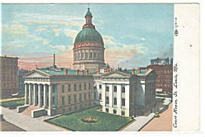 St Louis, MO, Court House Postcard (Image1)