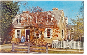 Williamsburg,VA, Brush-Everard House Postcard (Image1)