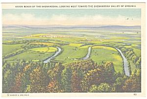 Seven Bends of the Shenandoah VA  Postcard p11367 (Image1)