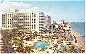 Miami Beach,FL, Americana Hotel Postcard 1961 (Image1)