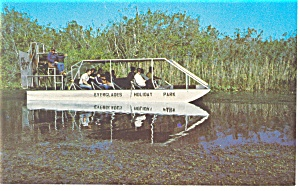 Airboat at Everglades Holiday Park Postcard p11378 (Image1)