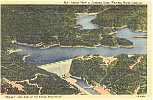 TVA Fontana Dam NC Postcard p1138 (Image1)