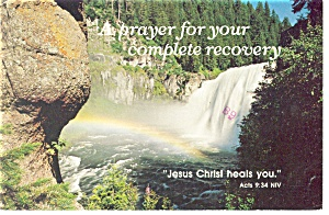 Jesus Christ heals you,Acts 9:34 NIV Postcard (Image1)