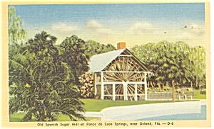 Deland FL Spanish Sugar Mill Postcard p11427 1947 (Image1)