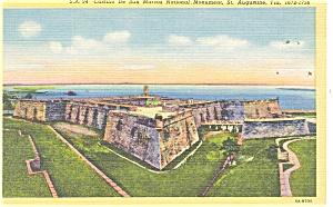 St Augustine FL Castillo De San Marcos Postcard p11433 (Image1)