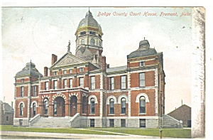 Fremont, NE, County Court House Postcard 1907 (Image1)