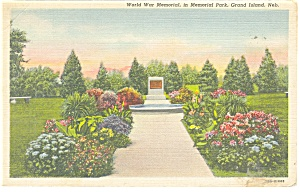 Grand Island, NE, World War Memorial Postcard (Image1)