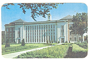 Lincoln, NE, U of NE Library Postcard 1956 (Image1)