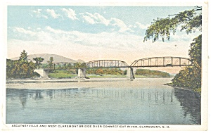 Claremont,NH, West Claremont Bridge Postcard 1916 (Image1)