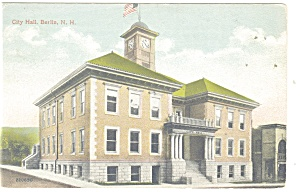 Berlin, NH , City Hall Postcard (Image1)