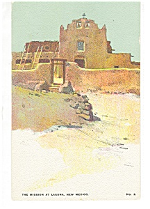The Mission at Laguna, NM Postcard (Image1)