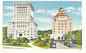 Asheville NC Suncombe County Court House Postcard p11532 (Image1)
