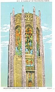 Lake Wales FL Closeup of Singing Tower Postcard p11533 1933 (Image1)