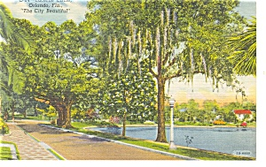 Orlando FL Lucerne Circle Postcard p11536 1958 (Image1)