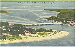 St Petersburg FL John s Pass Postcard p11549 (Image1)