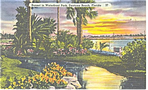 Daytona Beach Fl Waterfront Park Postcard P11550 1945