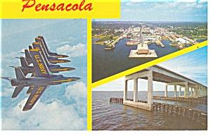 Pensacola FL Blue Angels Postcard p11555 1976 (Image1)