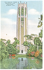 Lake Wales FL The Singing Tower Postcard p11568 1945 (Image1)