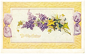 Birthday Greetings Vintage Postcard (Image1)
