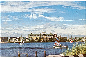 Harbor Scene Postcard P11637