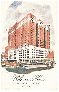 Chicago,IL, Palmer House A Hilton Hotel Postcard p11638 (Image1)