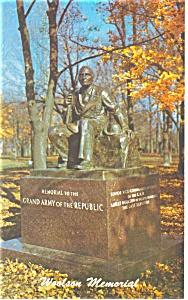 Gettysburg PA Albert Woolson Monument Postcard p11659 (Image1)