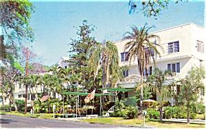 St Petersburg FL Hotel Albermarle Postcard p11672 1966 (Image1)