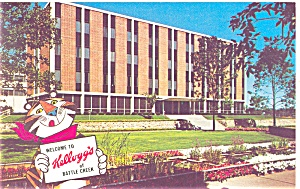 Battle Creek, MI, Kellogg Company Postcard (Image1)